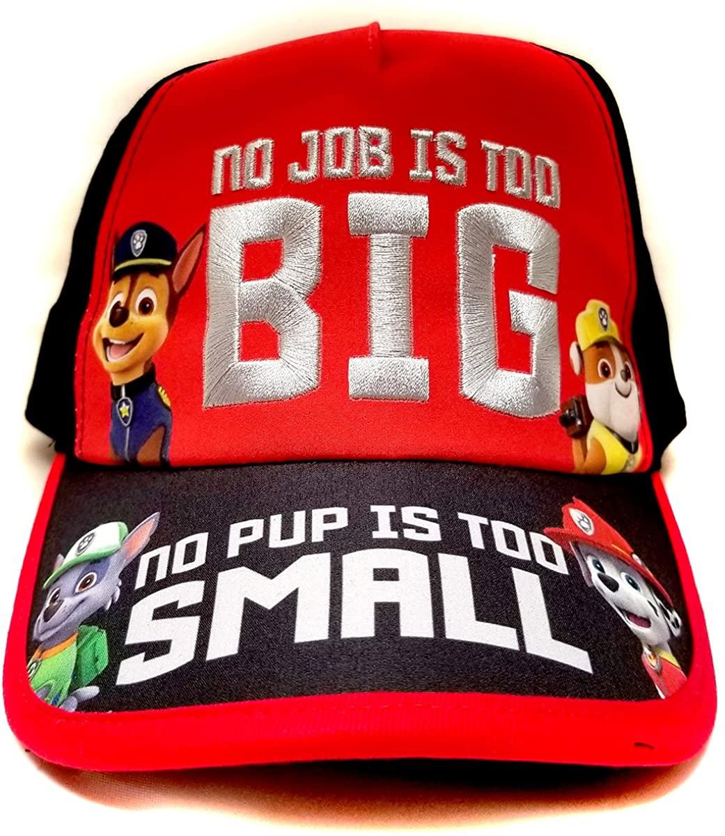 Nickelodeon Paw Patrol No Job No Pup Kids Children Boys Baseball Cap -Age 4 ~ 10