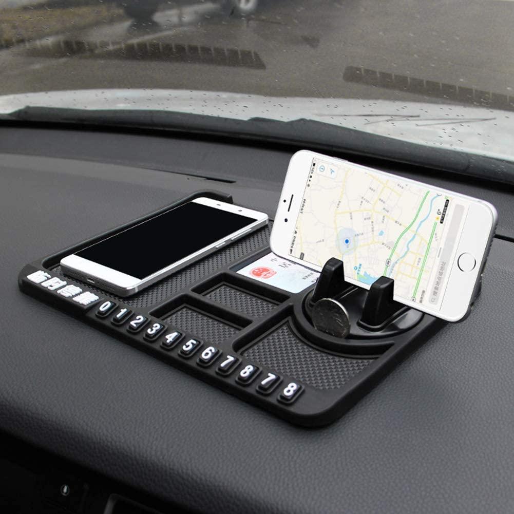 AKDSteel Car Anti Slip Pad Rubber Mobile Sticky Stick Dashboard Phone Shelf Anti Non Slip Mat Black