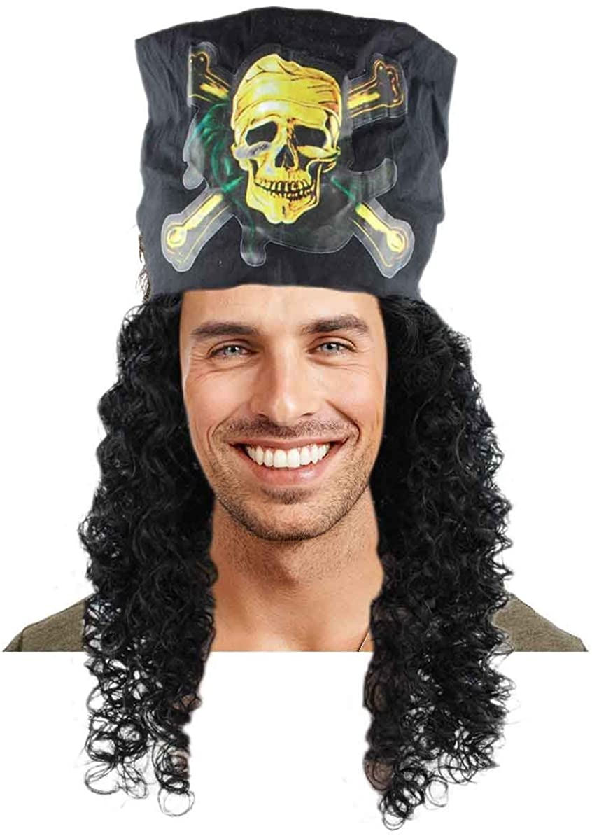 Captain Pirate Curly Wig HM-170