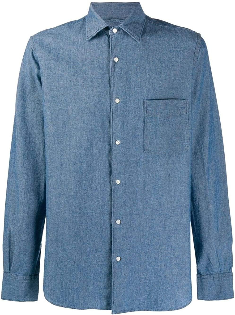 Aspesi Luxury Fashion Man CE36E54201031 Blue Cotton Shirt   Spring Summer 20