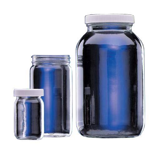 Wheaton Science Products W216935 Clear Wide Mouth Bottle Without Cap, 8 fl. oz. Capacity (Pack of 24)