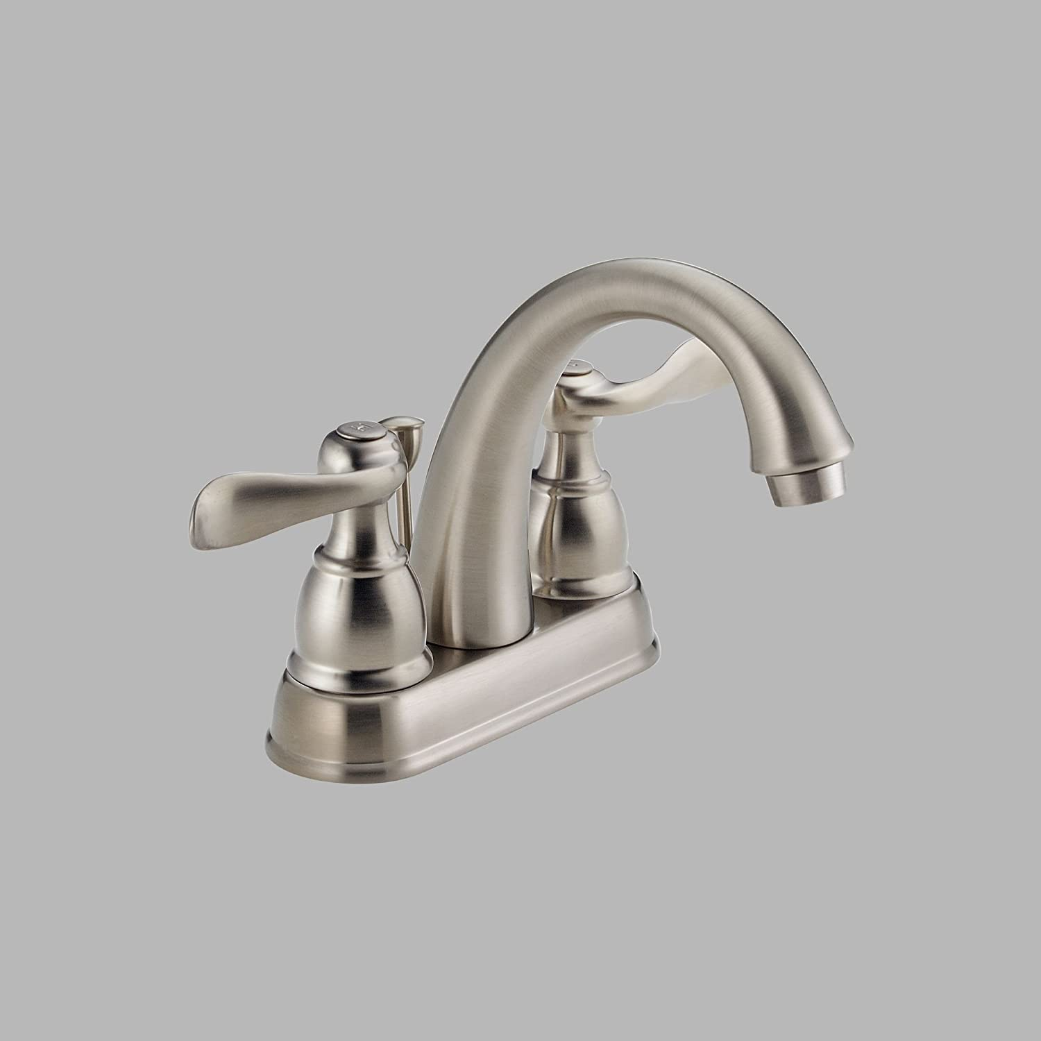Delta Faucet Windemere 2-Handle Centerset Bathroom Faucet with Drain Assembly, Brushed Nickel 25996LF-BN