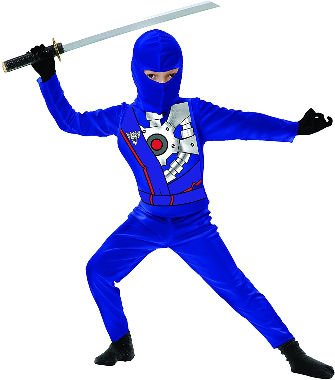 Charades Childs Ninja Avenger Series 4 Costume, Blue, X-Small