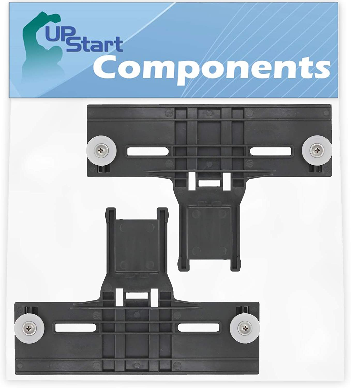 2-Pack W10350375 Dishwasher Top Rack Adjuster Replacement for Whirlpool WDT750SAHV0 Dishwasher - Compatible with W10350375 Upper Top Rack Adjuster - UpStart Components Brand