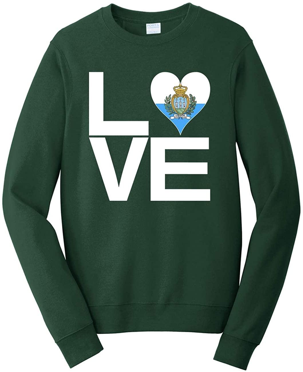 Tenacitee Unisex Love Block San Marino Heart Sweatshirt