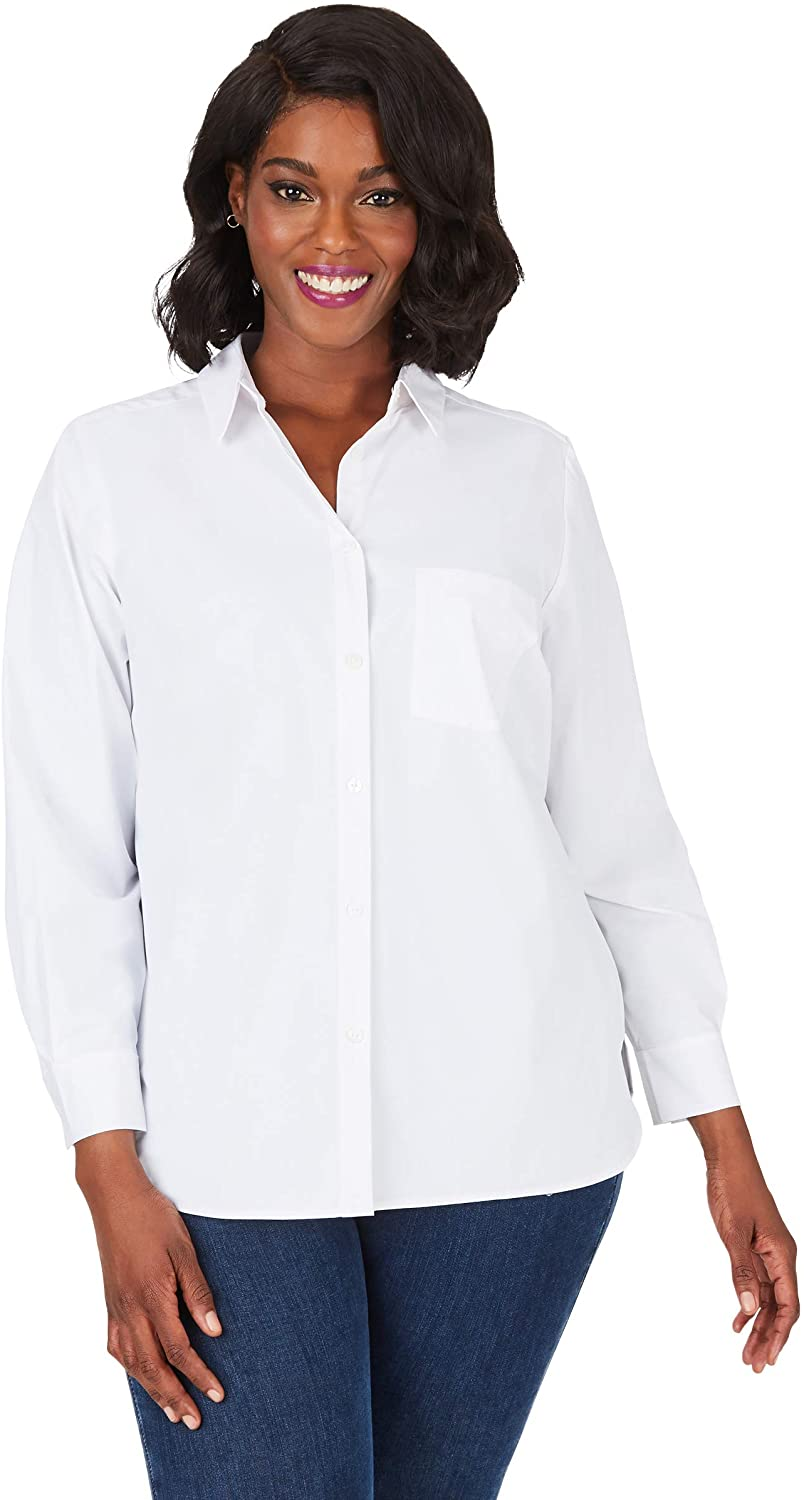 Foxcroft Women's Manhattan Plus Easy-Care Stretch Shirt