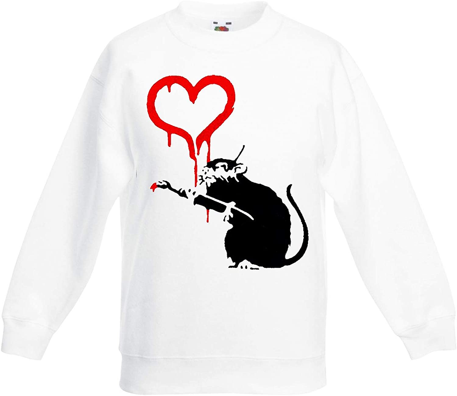Banksy Love Rat Graffiti Children's Toddler Kids Sweatshirt Jumper