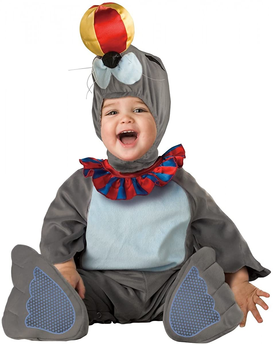 Silly Seal Costume - Infant Large Grey