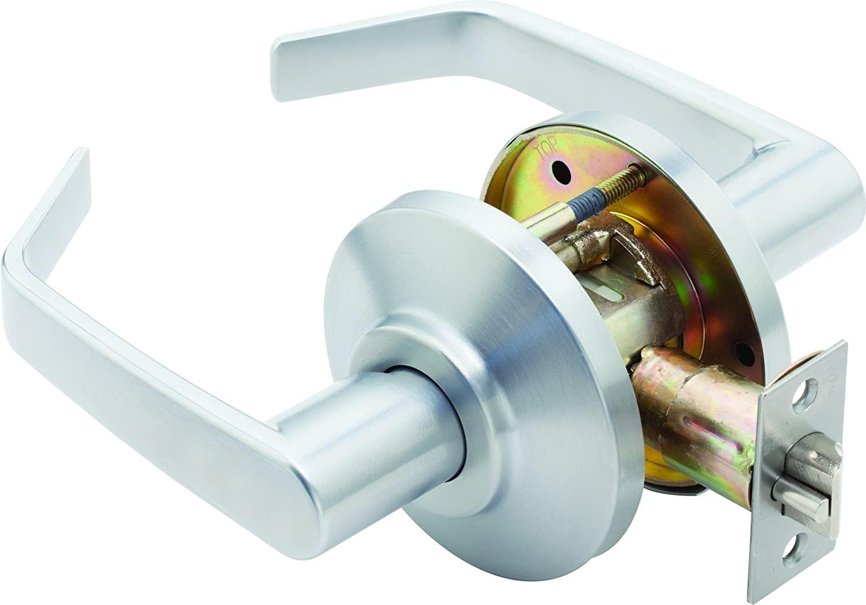 Stanley Best 7KC30N15DSTK626 Grade 2 Cylindrical Lock, Passage Function Satin Chrome
