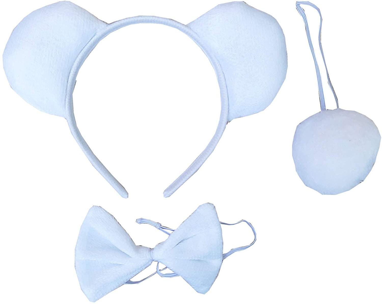 Kirei Sui White Polar Bear Headband Bowtie Tail 3pcs Costume