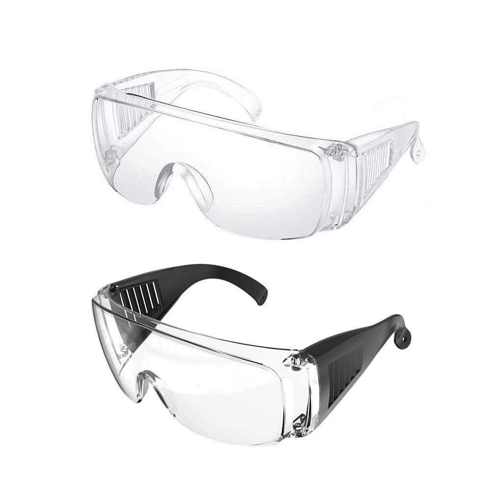 EFISH 2PCS Safety Glasses Safety Goggles with Clear Anti Fog Scratch Resistant Wrap-Around Lenses Eyewear Protective Glasses for Labs,Chemical,Workplaces Safety
