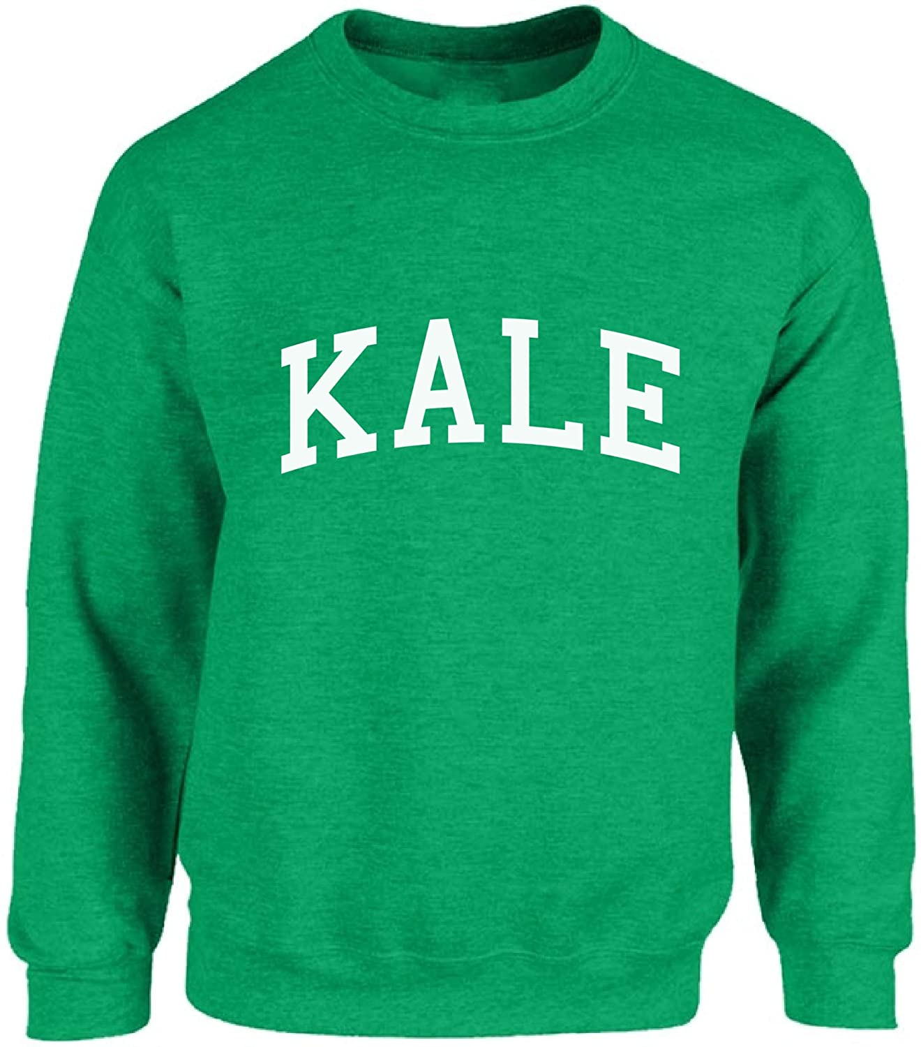 Vizor Kale Vegan Crewneck Top Kale Sweatshirts Vegetarian Lifestyle Kale Clothes