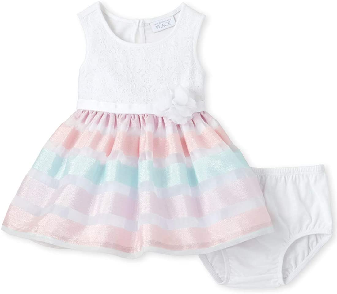 The Children's Place Baby Girls' Sleeveless Printed Tutu Bloomer Dress Set
