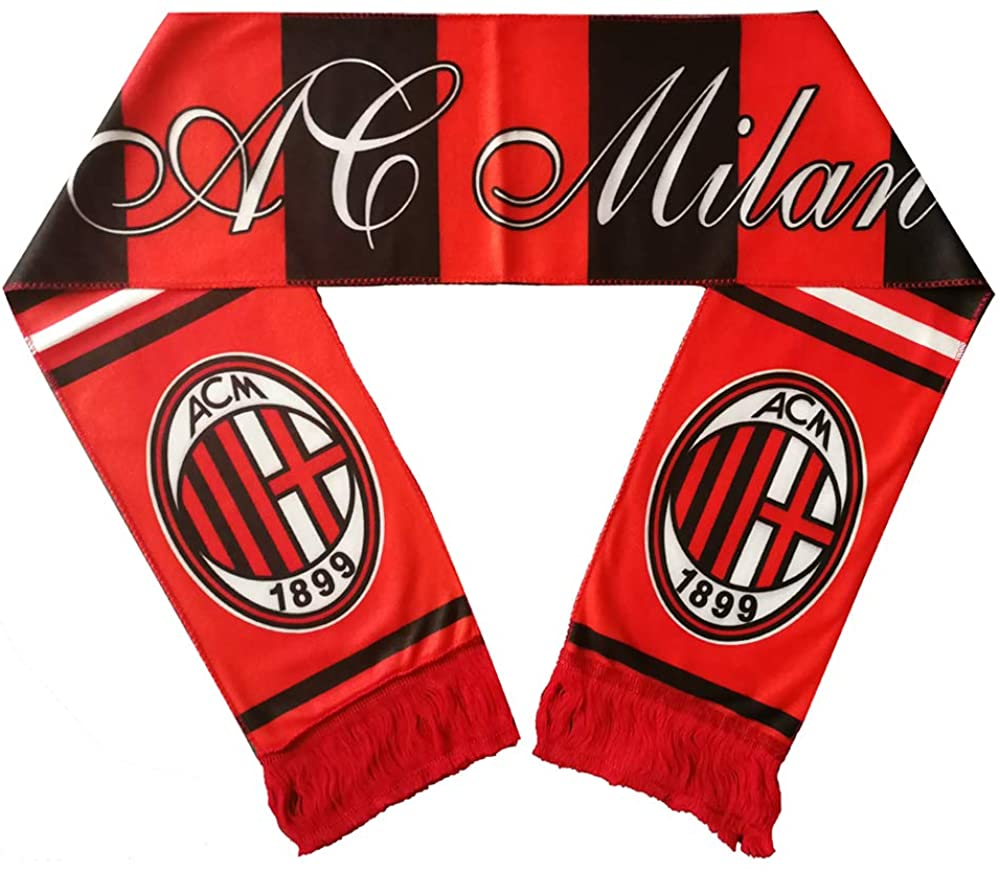 Football Club Team Support Scarf Double Sided Print Scarf for Men Women
