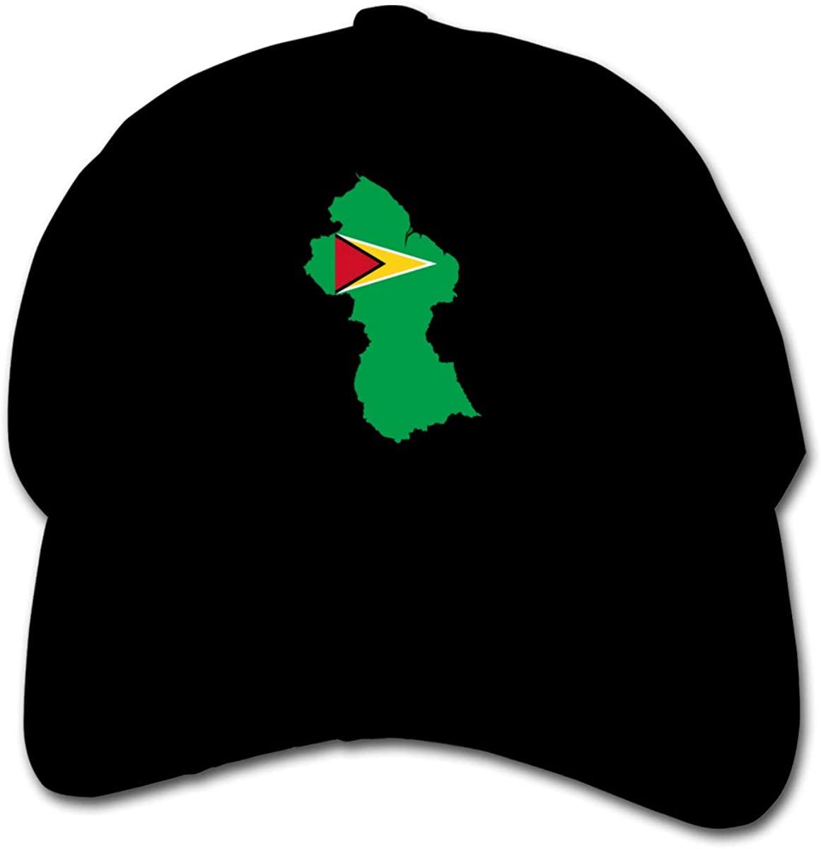 Eunlop Flag Map of Guyana Children's Baseball Caps Adjustable Low Profile Trucker Hats