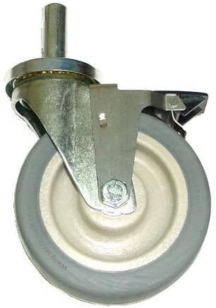 (One) Modular Parts 6 x 2 Polyurethane Wheel Swivel Stem Caster with Brake