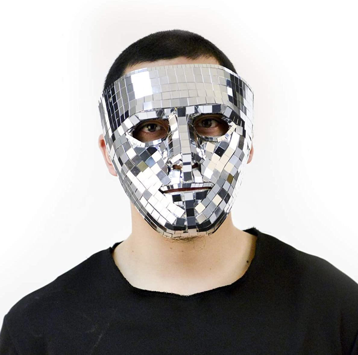 Charades Mirror Face Mask Adult Costume, As Shown, One Size