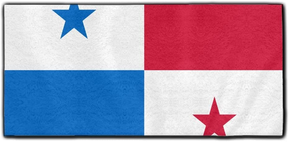 ChunLei Flag of Panama Washcloths Face Towel Hair Care Towel Gym and Spa Towel Kitchen Dish Towel