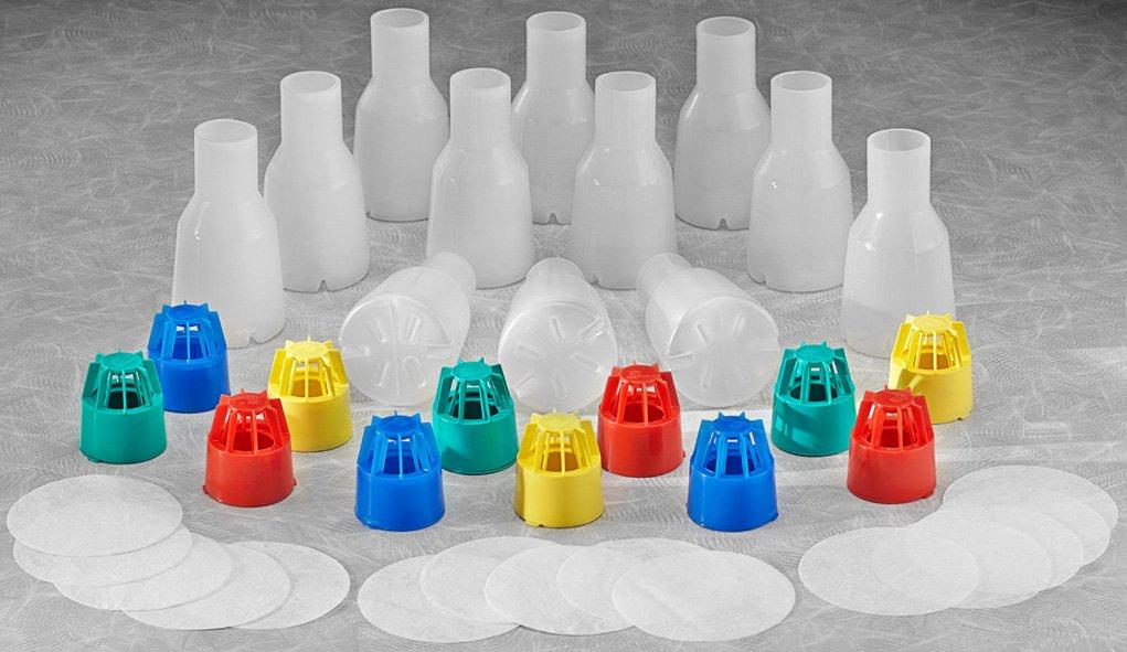 IBI Scientific SS-6003C Polypropylene 2.5L Dri-Gauze Linings Full Baffle Tunair Shake Flask Kit