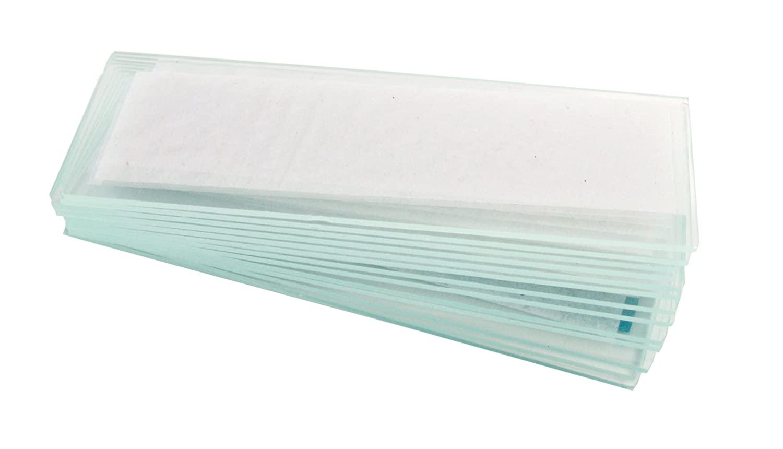 American Educational Glass Plain Microscope Slide 76.2mm Length 25.1mm Width 1.01-1.2mm Thick (Bundle of 60)