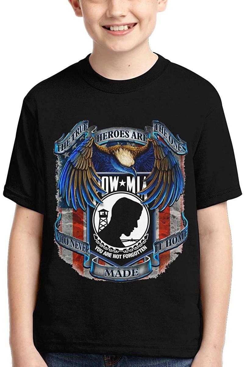 Wujing Boys,Girls,Youth Pow Mia T Shirts