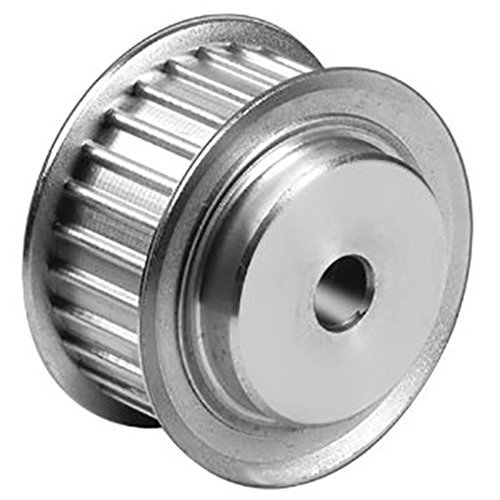 Ametric 3M40X9 Aluminum HTD Timing Pulley with Flange, 3 mm Pitch, 40 Teeth, for 9 mm wide belt, 6 mm +/-1mm Pilot Bore, 38.2 mm Pitch Dia., 37.44 mm OD, 28 mm Hub Dia., 13.4 mm Face Width, 22.2 mm Overall Width, 6F/A , (1-080)