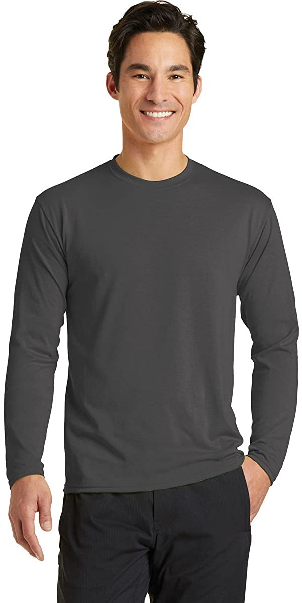 Port & Company Long Sleeve Essential Blended Performance Tee PC381LS -Charcoal M