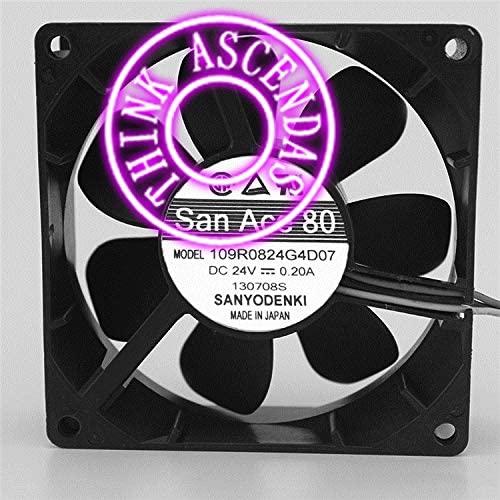 Original Cooling Fan 109R0824G4D07 DC24V 0.20A