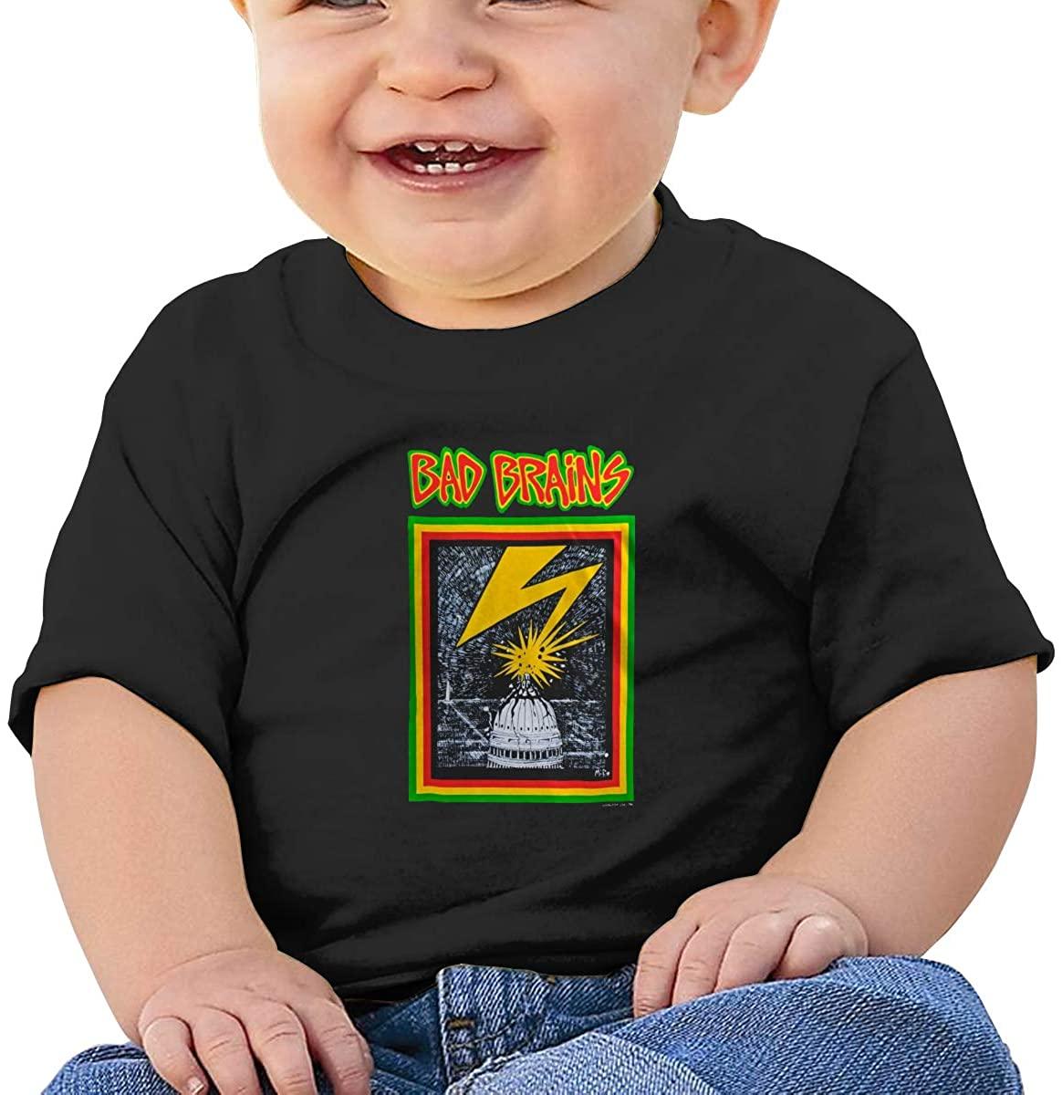 Fgrtyt Baby Bad Brains Short Sleeve Cotton Graphic Tee T-Shirt
