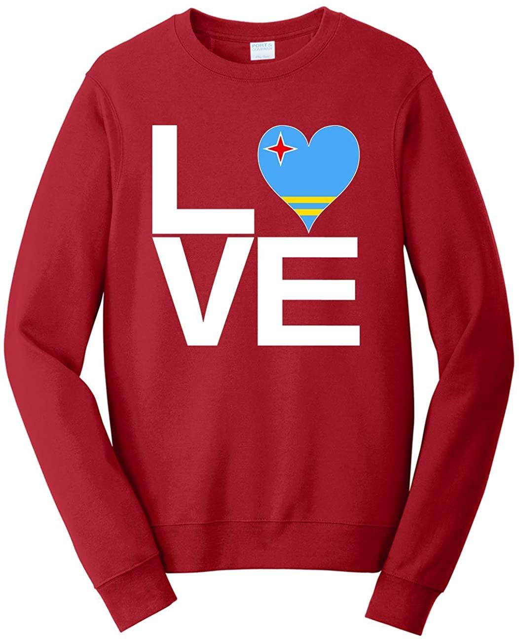 Tenacitee Unisex Love Block Aruba Heart Sweatshirt