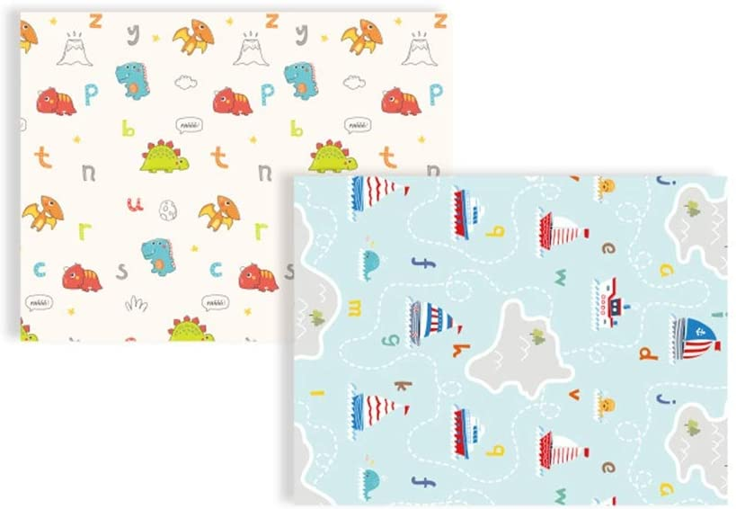 Quisilife Kids Playing Mats Play Mat Reversible Baby Mats for Playing Or Crawling Non Toxic Foam Playmat for Infants Or Toddlers (Color, Size : 1501801cm)