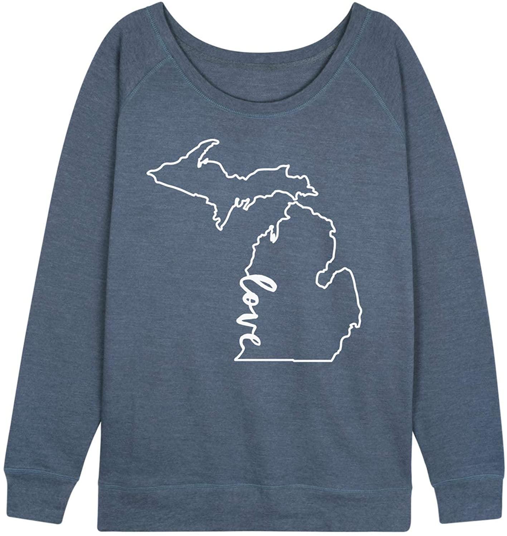 Love Michigan - Ladies Plus Slouchy