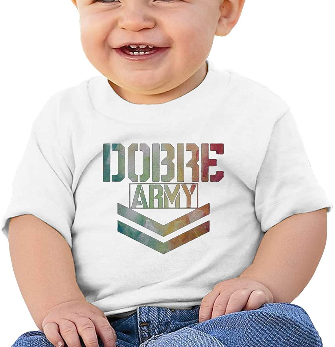 6-24 Months Boy and Girl Baby Short Sleeve T-Shirt Lucas Dobre Original Minimalist Style White