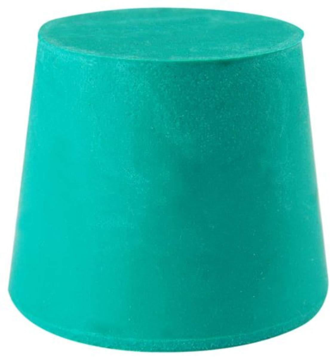 Plasticoid E2--M350 Green Neoprene Solid Stopper, 20mm Top Diameter, 16mm Bottom Diameter, 2 Size, 25mm Length