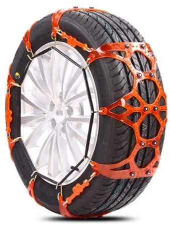 WANGDD Car Snow Chain Off-Road car Sedan Universal Bread SUV Snow tire Chain Orange Tendon Thickening