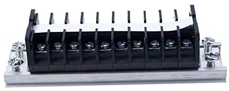 Davitu Terminals - Big deal TD-1510 660V 15A Dual 10 Pole Din Rail Electric Terminal Strip Block - (Color: Black Sliver)