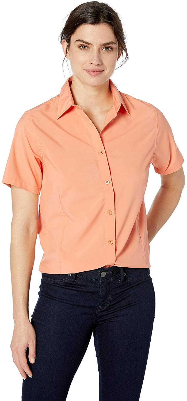 AquaGuard Harritton Women's HART-M610SW-Paradise Short-Sleeve Performance Shirt, Khaki X-Small