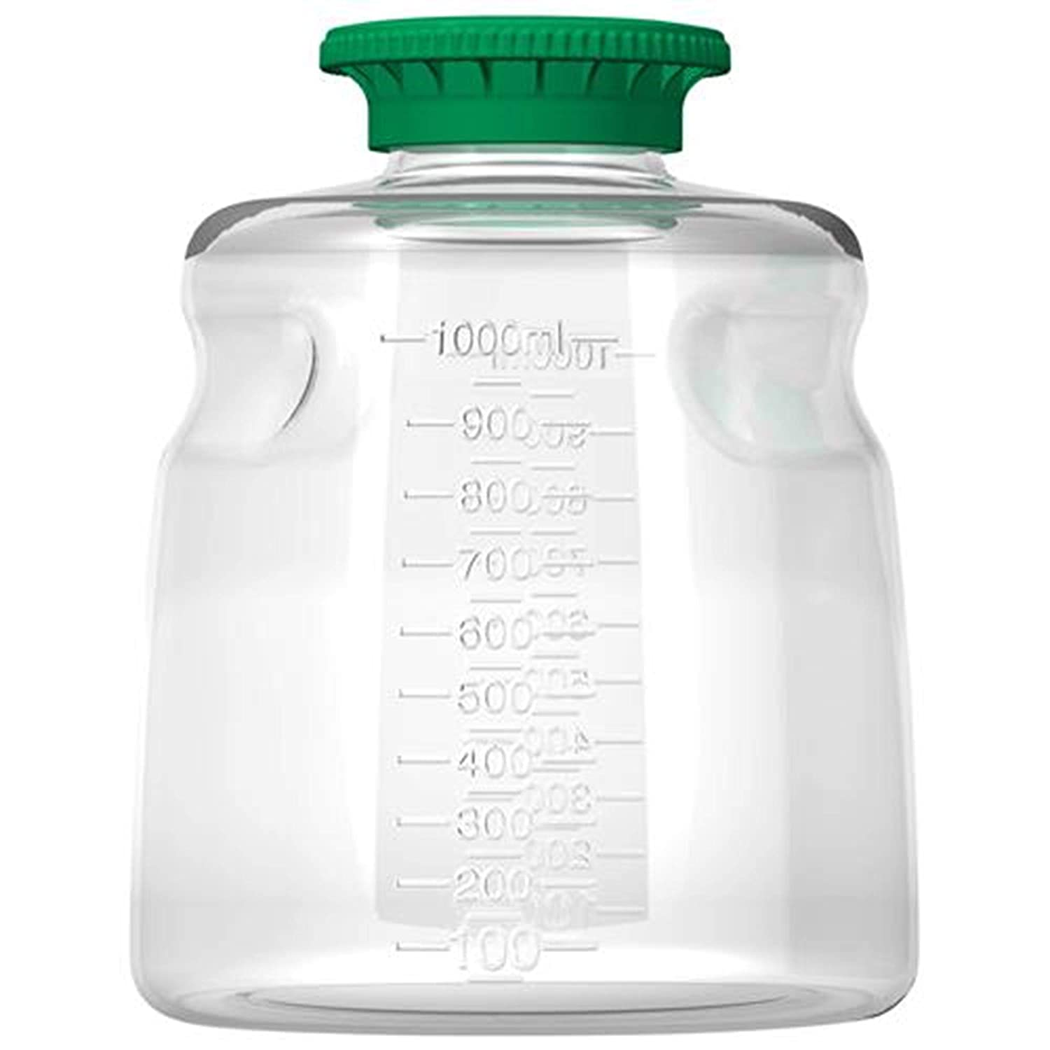 Autofil PETG Non-Sterile Disposable Media Bottle with Polypropylene Cap, 1000ml Volume (Pack of 24)