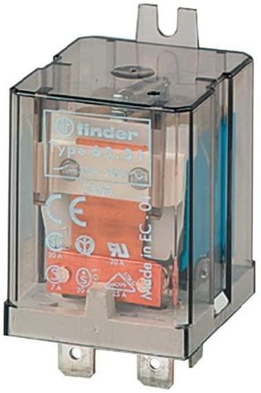 Finder 65.31.8.024.0300 SPST-NO 20A, 24V AC Coil, AgCdO Contact, Power Relay