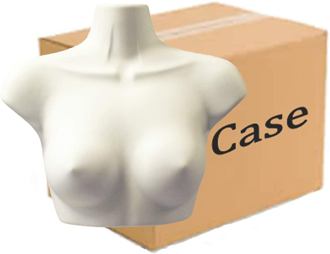 Inflatable Mannequins Hard Plastic Upper Torso Form - Female, Case of 36, White