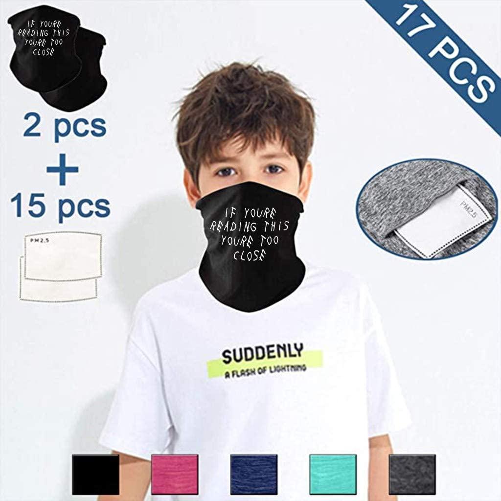 INORZYI Kids Outdoor Sports Turban Scarf Cotton with Filter Fabric Multi-Purpose Dustproof