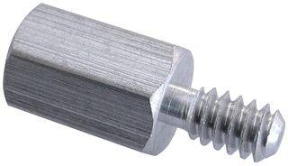 Jack Screws - Male #4-40 x 3/16 (OD) x 3/16 (Body Length) x 5/16 (Male Thread Length), Steel, Zinc Trivalent Plating, (QUANTITY: 1000) Part Number: 4750-3-S-12-JF