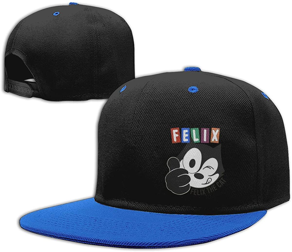 NYF Boys Girls Baseball Cap Snapback Hat Flat Bill Brim Adjustable Trucker Hat for Kids Children