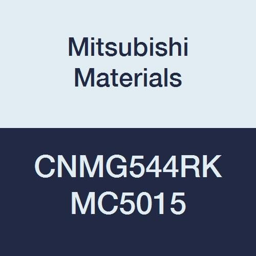 Mitsubishi Materials CNMG544RK MC5015 Carbide CN Type Negative Turning Insert with Hole, Unstable Cutting, Coated, Rhombic 80°, 0.625