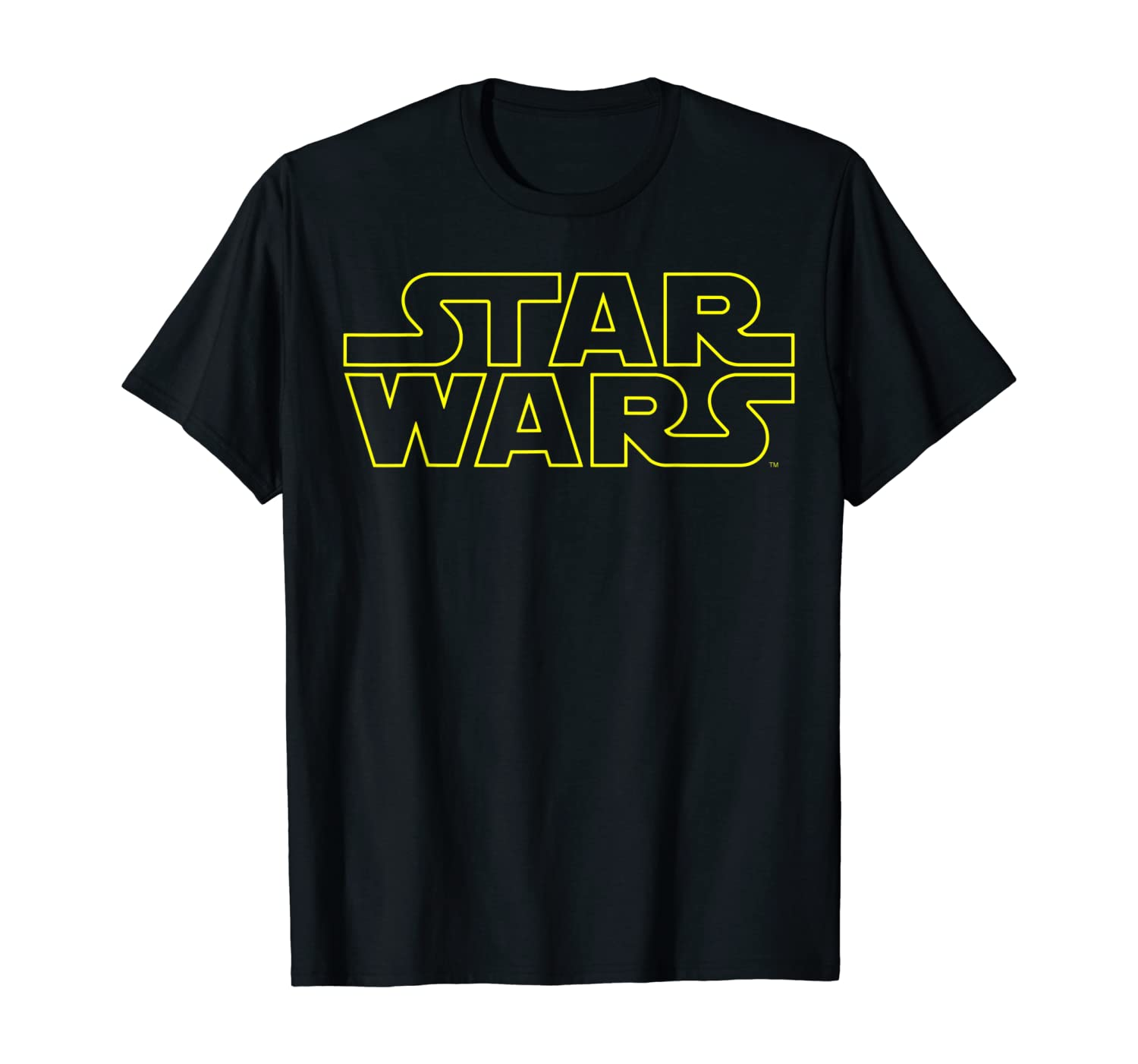 Star Wars Simple Logo Outline Graphic T-Shirt T-Shirt