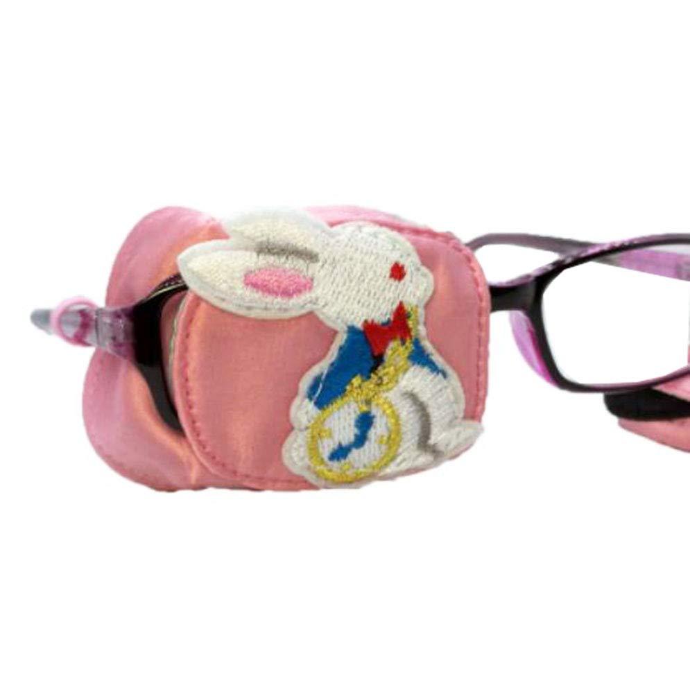 Child Cute Silk 3D Glasses Eye Mask Amblyopia Strabismus Lazy Eye Patches(Rabbit)