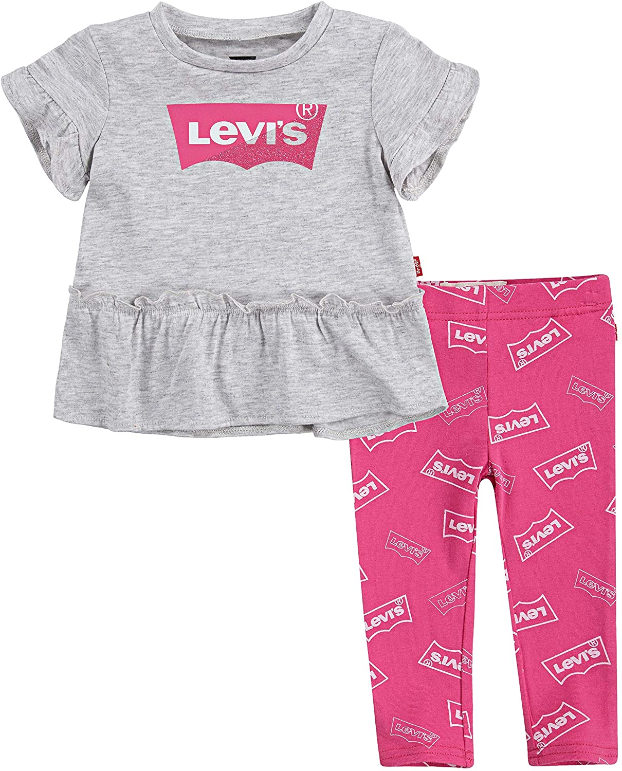 Levi's Baby Girls' Tunic Top and Leggings 2-Piece Outfit Set