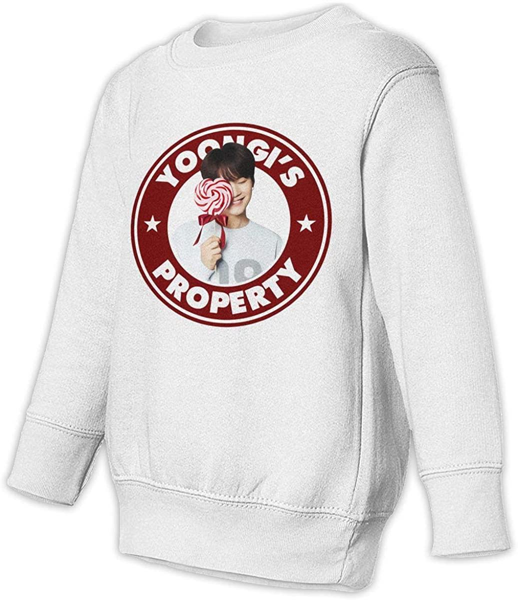 NOT Yoongi'S Property Unisex Sweatshirt Youth Boy and Girls Pullover Sweatshirt White
