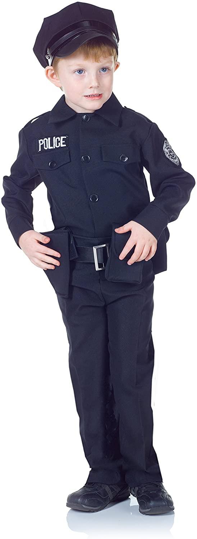 UNDERWRAPS Children's Police Uniform Costume Set - Black, Large (10-12)