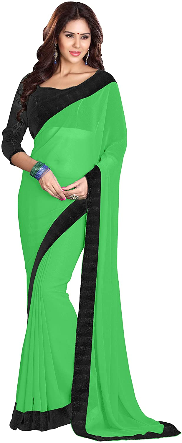 Sourbh Mirchi Fashion Women's Lace Work Casual Indian Saree Unstitched Blouse Piece